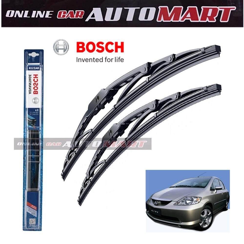 Honda City (iDSI/VTEC) Yr 2003-2017 - Bosch Advantage Wiper Blade (Set) - Compatible only with U-Hook Type - 24 inch & 14 inch