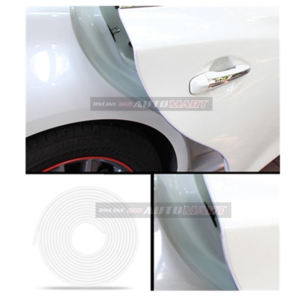 Honda City Yr 2003-2008/City Yr 2008-2014/City Yr 2014-2016 - 16FT/5M (CLEAR) Moulding Trim Rubber Strip Auto Door Scratch Protector Car Styling Invisible Decorative Tape (4 Doors)