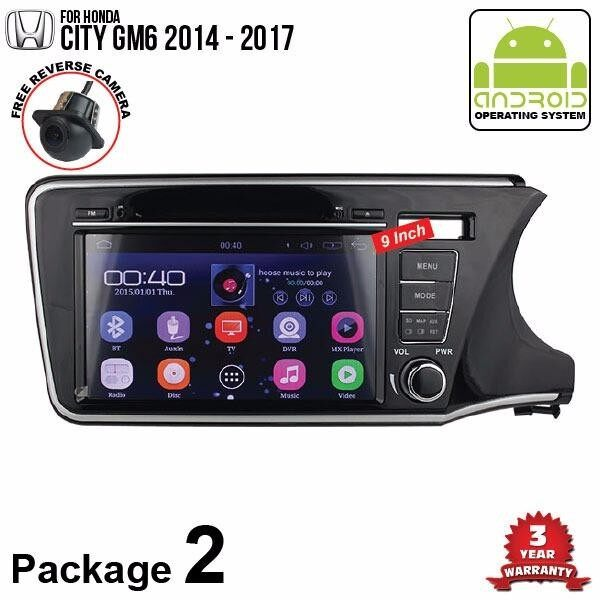 "HONDA CITY GM6 2017 - 2018 SKY NAVI 9"" FULL ANDROID Double Din GPS DVD CD USB SD BLUETOOTH IOS Mirror Link Player (Package 2)"