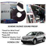 Honda CRV 2003-2016 SCHEME SILENCE (Double D) DIY Air Tight Slim Rubber Seal Stripe Sound & Wind Proof & Sound Proof for Car (4 Doors)
