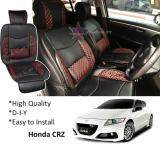 Honda CRZ Red Lining Design Universal Car PU Seat Mat with Lumbar Support Per Piece