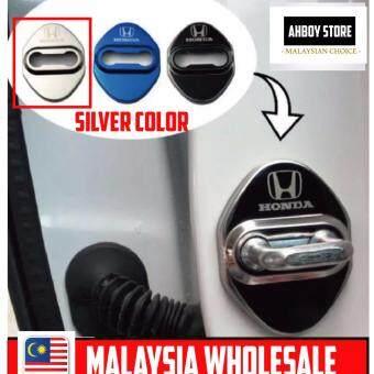 Honda Door Lock Protection Cover Honda City Jazz BRV Honda Civic Honda Accord Honda HR-V Honda HRV - SILVER CHROME
