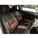 Honda Freed Red Lining Design Universal Car PU Seat Mat with Lumbar Support Per Piece