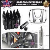 Broz Honda High Quality Aluminum Universal M12 x P1.5 Wheel Nut - Black (20PCS)