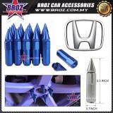 Broz Honda High Quality Aluminum Universal M12 x P1.5 Wheel Nut - Blue (20PCS)