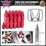 Broz Honda High Quality Aluminum Universal M12 x P1.5 Wheel Nut - Red (20PCS)