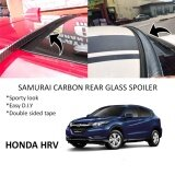 Broz Honda HRV Samurai Carbon Rear Top Windscreen OEM Glass Spoiler (3.5cm)