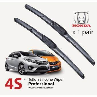 "Honda Jazz 1.5 2003-2017 4S Professional Series Wiper Silicone Blades 24\"" + 14\"" (1 pair)"