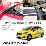 Broz Honda Jazz 2003-2016 Samurai Carbon Rear Top Windscreen OEM Glass Spoiler (3.5cm)