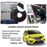 Honda Jazz 2003-2016 SCHEME SILENCE (Double D) DIY Air Tight Slim Rubber Seal Stripe Sound & Wind Proof & Sound Proof for Car (4 Doors)