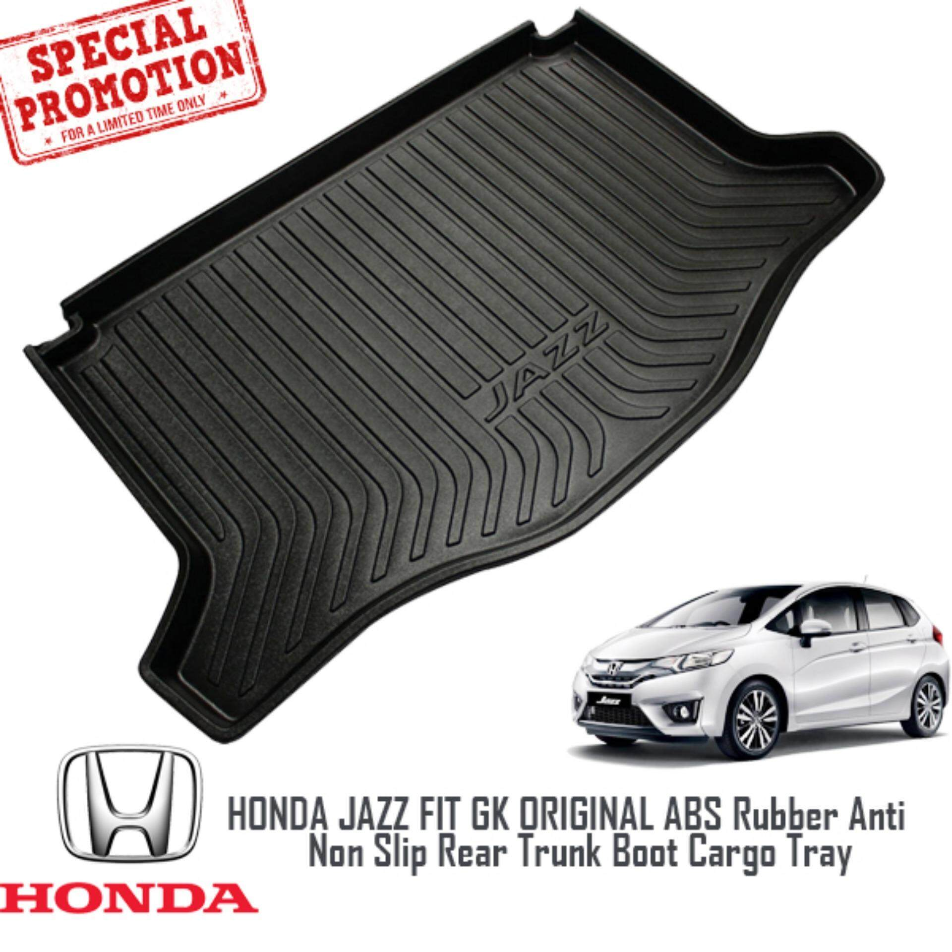 HONDA JAZZ GK 2014 - 2016: ORIGINAL ABS Rubber Anti Non Slip RearTrunk Boot Cargo Tray Made in Japan