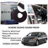 Honda Odyssey SCHEME SILENCE (Double D) DIY Air Tight Slim Rubber Seal Stripe Sound & Wind Proof & Sound Proof for Car (4 Doors)