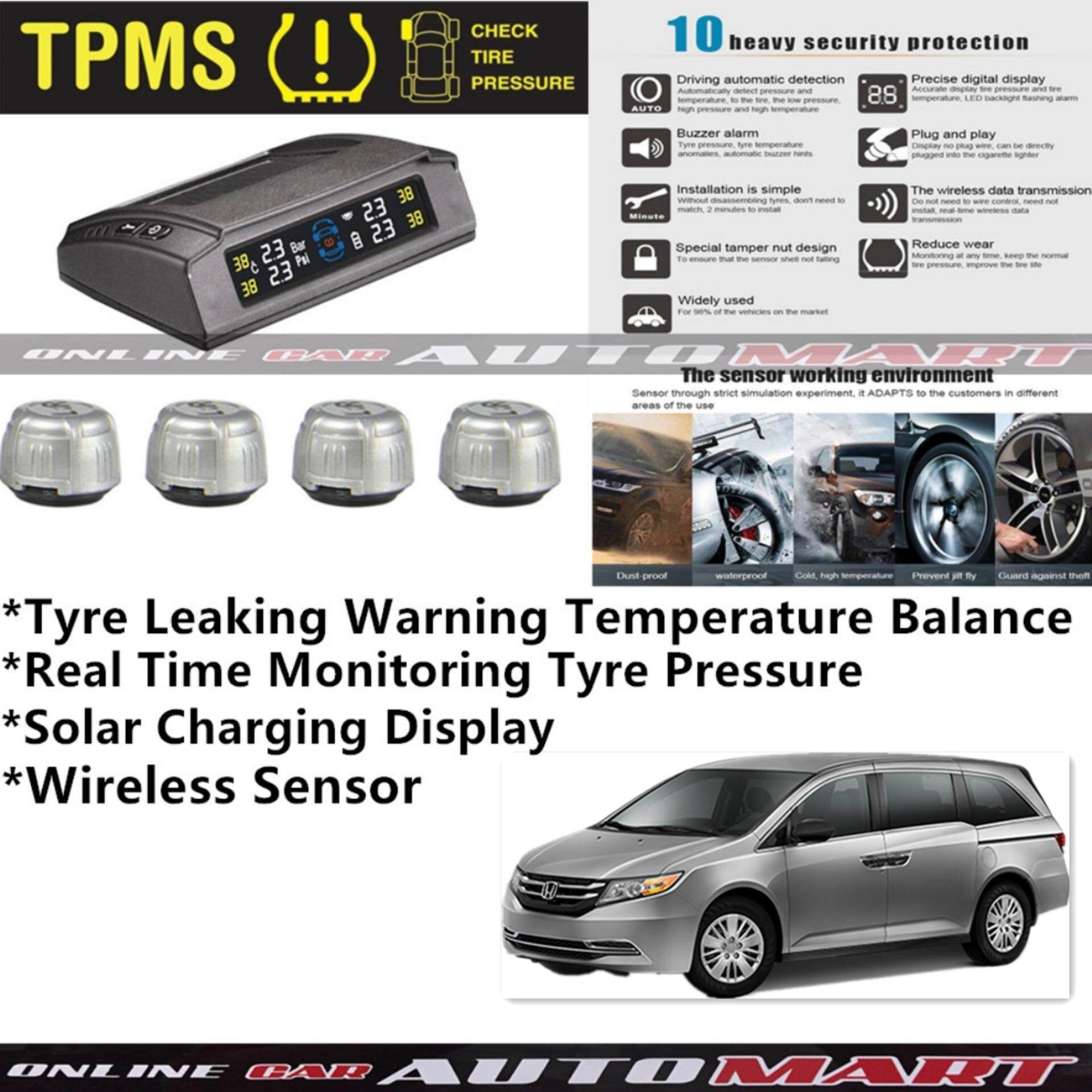 Exceptional Honda Odyssey TPMS Tire Pressure Monitor System T83   Solar Power Wireless  External Silver Sensor   Tire Pressure Monitor Tool