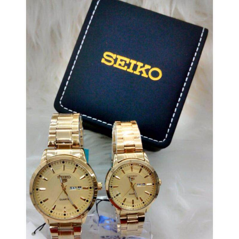 [HOT ITEM FOR COUPLE] SEIKO GOLD STRAP WITH GOLD DIAL Malaysia