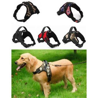 Harga Hot Sale Dog Soft Harness Adjustable Pet Dog Big Exit Harness VestCollar Strap for Small and Large Dogs Pitbulls - Red (M)