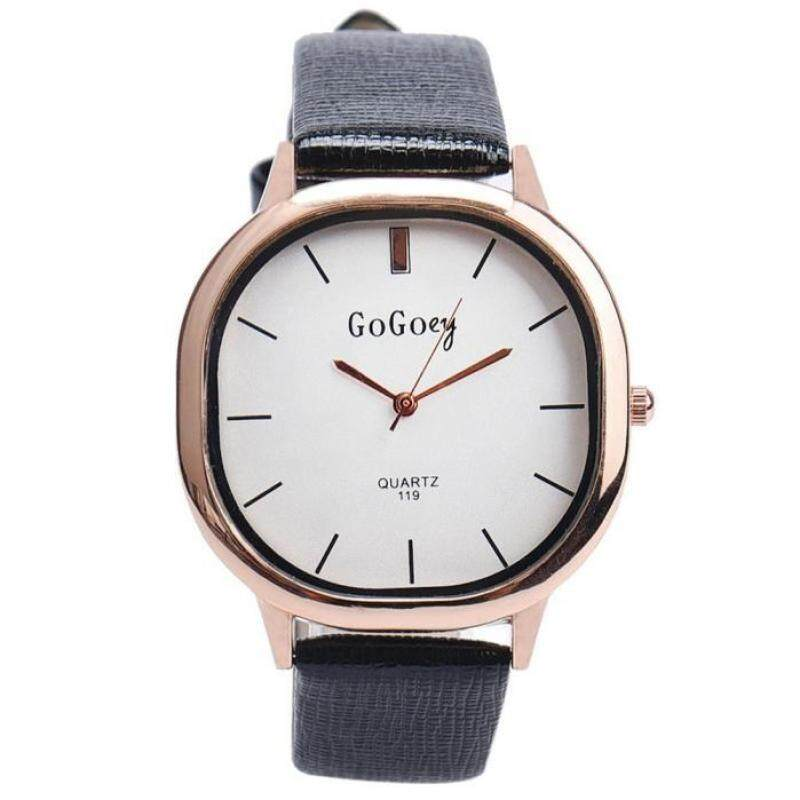 Hot Sale!Luxury Round Dial Leather Quartz Business Dress Wrist Watch Gift for Men WomenBK Malaysia