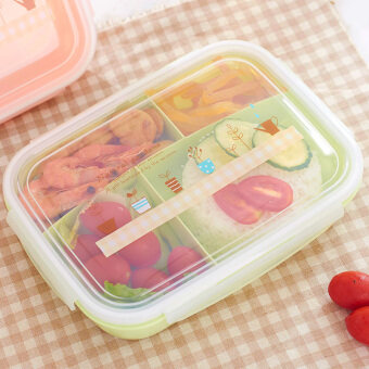Harga Hundreds of more than five grid microwave lunch box lunch box with soup bowl japanese sealed compartments student lunch box sushi box