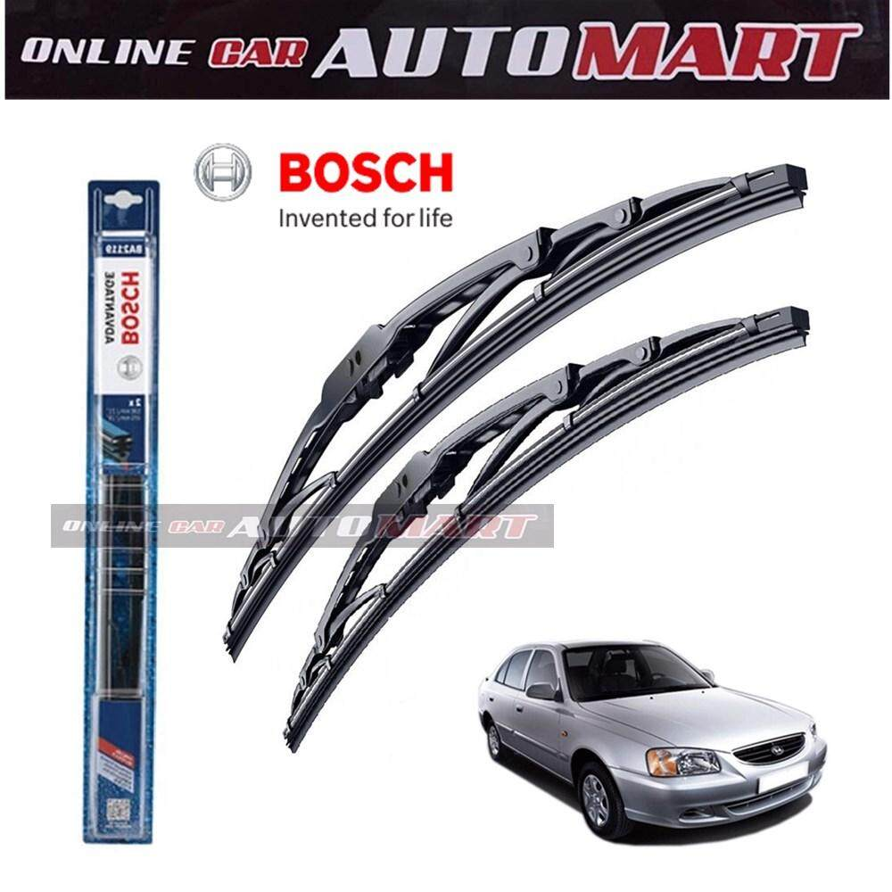 Hyundai Accent Yr1999-2006 - Bosch Advantage Wiper Blade (Set) - Compatible only with U-Hook Type - 18 inch & 20 inch