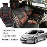 Broz Hyundai Elantra Red Lining Design Universal Car PU Seat Mat with Lumbar Support Per Piece