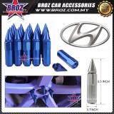Broz Hyundai High Quality Aluminum Universal M12 x P1.5 Wheel Nut - Blue (20PCS)