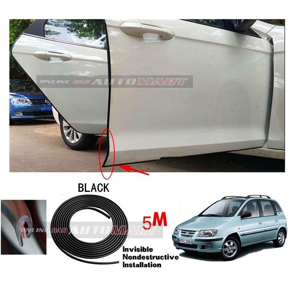 Hyundai Matrix - 16FT/5M (BLACK) Moulding Trim Rubber Strip Auto Door  Scratch Protector Car Styling Invisible Decorative Tape (4 Doors)