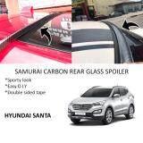 Broz Hyundai Santa FE Samurai Carbon Rear Top Windscreen OEM Glass Spoiler (4.5cm)