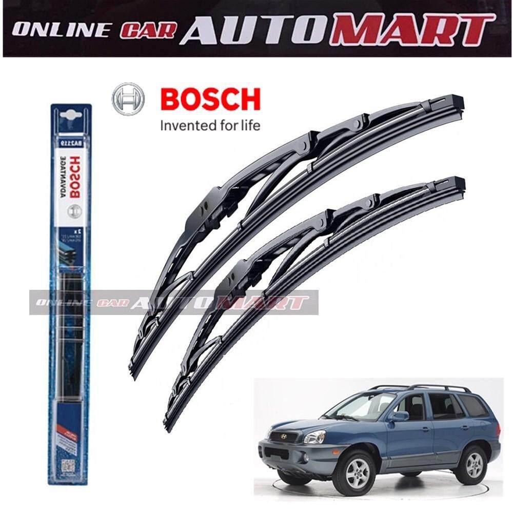 Hyundai Santa Fe Yr2001-2004 - Bosch Advantage Wiper Blade (Set) - Compatible only with U-Hook Type - 22 inch & 20 inch