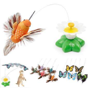 Harga iBelieve Electric Bird Flying Around The Flower Pet Cat Toys