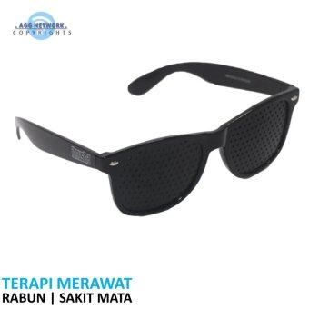 Harga Ibnusina Therapy Eyewear Glasses Polka Black Edition | Fuzzy Blurred Vision Spectacles See Clear Eye Sight | Pinhole Concepts