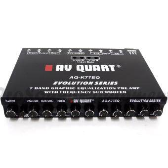 Harga AV QUART AQ-K77EQ 7 BAND GRAPHIC PRE AMP PARAMETRIC EQUALIZER WITH FREQUENCY SUBWOOFER CAR AUDIO SYSTEM
