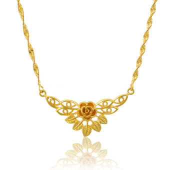 Harga ONLY 24K Golden The Beauty Beautiful Butterfly Golden Necklace