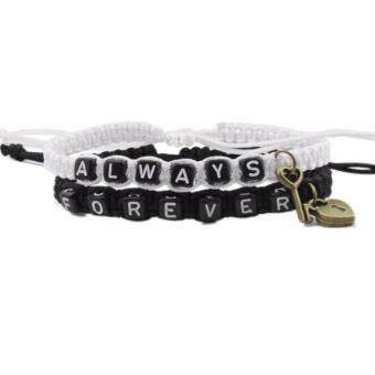 Harga Hequ Forever and Always Couples Bracelet Set Key lock Loves Bracelet Boyfriend Gift Girlfriend Present