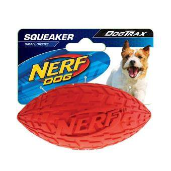 Harga Nerf Dog Tire Squeak Football Dog Toy Red Green Small