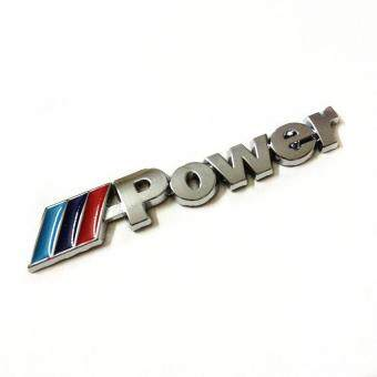 Harga Cestlafit for BMW Power M emblem badge sticker car trunk metal decal M-Power M3 M5 M6