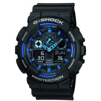 Harga Casio G-Shock GA100-1A2 Ana-Digi Speed Indicator Black Dial Men's Watch