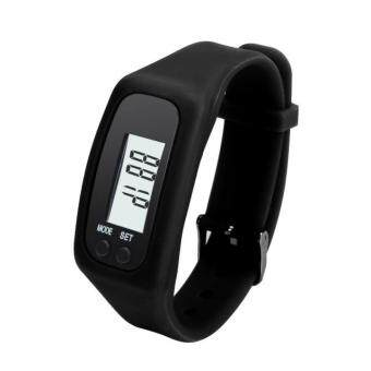 Harga Coconie Digital LCD Pedometer Run Step Walking Distance Calorie Counter Bracelet Black