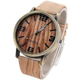 Harga SoKaNo Trendz Wooden Strap Watch- Design 6