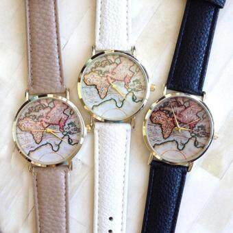 Harga Europe and the United States retro watch the world map of the new wholesale watches color table of earth tableCoffee