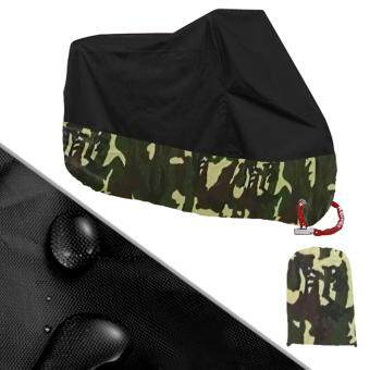 Harga 190T Motocycle Cover Waterproof Dustproof UV Protective Scooter Shelter Dust Storage 200x90x100 (M, Camouflage)