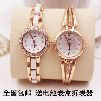 Harga Is South Korea fashion brand diamond quartz watch Lady minimalist retro fashion bracelet watch Korean Students