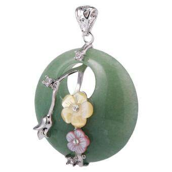 Harga MagiDeal 40mm Gemstone Flower Pendant Necklace DIY Jewelry Making Green Aventurine