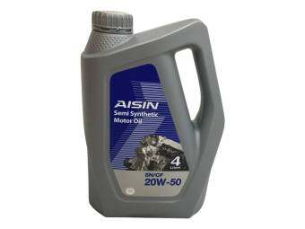 Harga AISIN SN/CF 20W50 Semi Synthetic Engine Oil 4 Litre