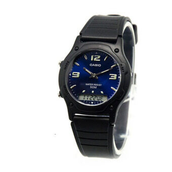 Harga Casio Men Ana-Digi Blue Dial Resin Strap Watch AW-49HE-2AVDF