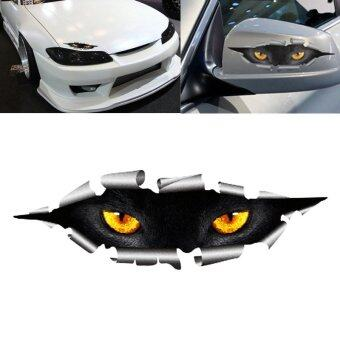 Harga Funny 3D Eyes Car Sticker Waterproof Peeking Monster Decals Stickers