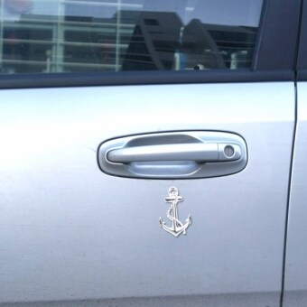 Harga Ship Anchor Shape Car Auto Metal Free Stickers(Silver)