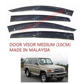 Harga AG Car Window Door Visor Wind Deflector (Made in Malaysia) - Medium 10cm for Toyota Land Cruiser HZ180
