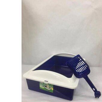 Harga Cat Litter Pan (free scoop) Blue