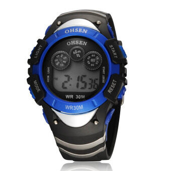 Harga Colors Flashlight Boys Girls Kids Digital Alarm Sport Quartz Wrist Watch Blue Water Resistant Nice Gift