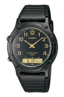 Harga Casio Men Ana-Digi Black Dial Resin Strap Watch AW-49H-1BVDF