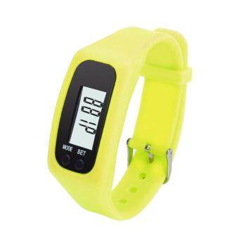 Harga Coconie Digital LCD Pedometer Run Step Walking Distance Calorie Counter Watch Yellow